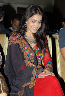 Genelia Spotted at Naa Ishtam party in a strange ugly black dress