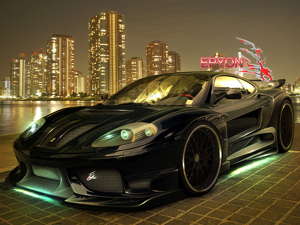 Sunhayoon Black Ferrari Wallpaper