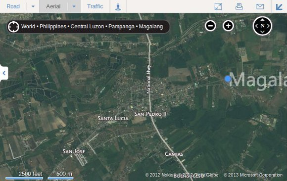 Bing Aerial Maps - Magalang