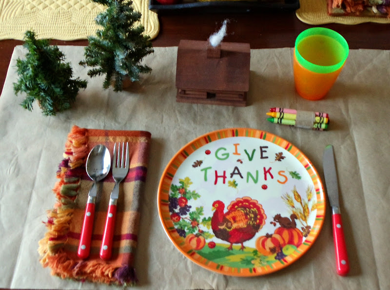 Upstairs Downstairs Kids Thanksgiving Table & Excellent Melamine Thanksgiving Plates Ideas - Best Image Engine ...