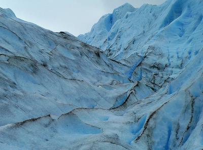 Glaciar de hielo azul
