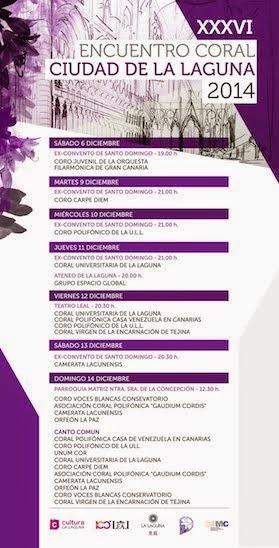XXXVI Encuentro Coral Ciudad de La Laguna