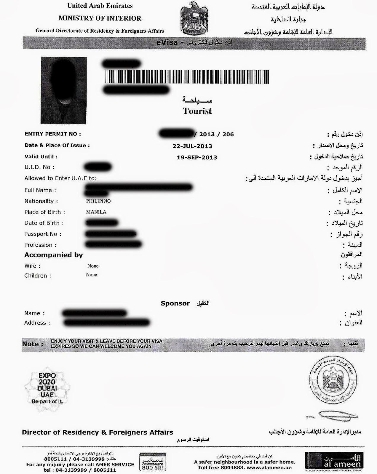 The Viewing Deck How To Apply For U A E Dubai Tourist Visa As