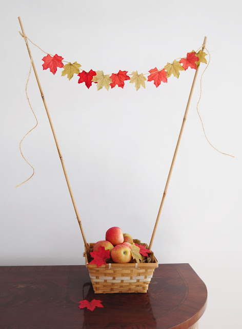 apple basket centerpiece