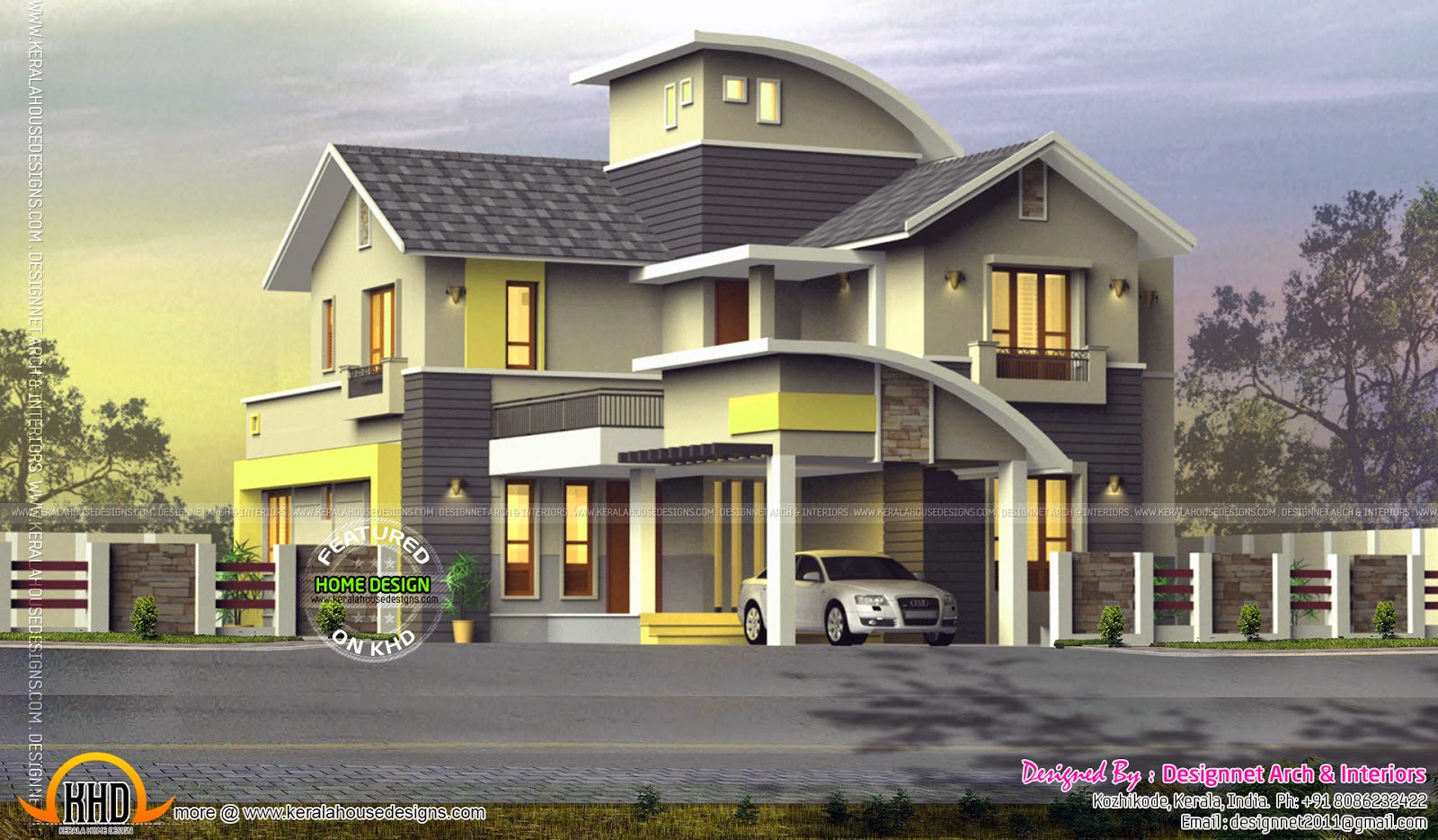 New Model Houses In Kerala Of 2380 Square Feet Kerala Model House Kerala Home Design