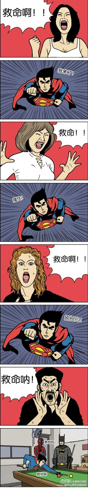 Funny Comics - Superman, Spiderman, Batman