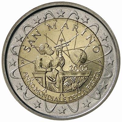 2 euro coins San Marino 2005