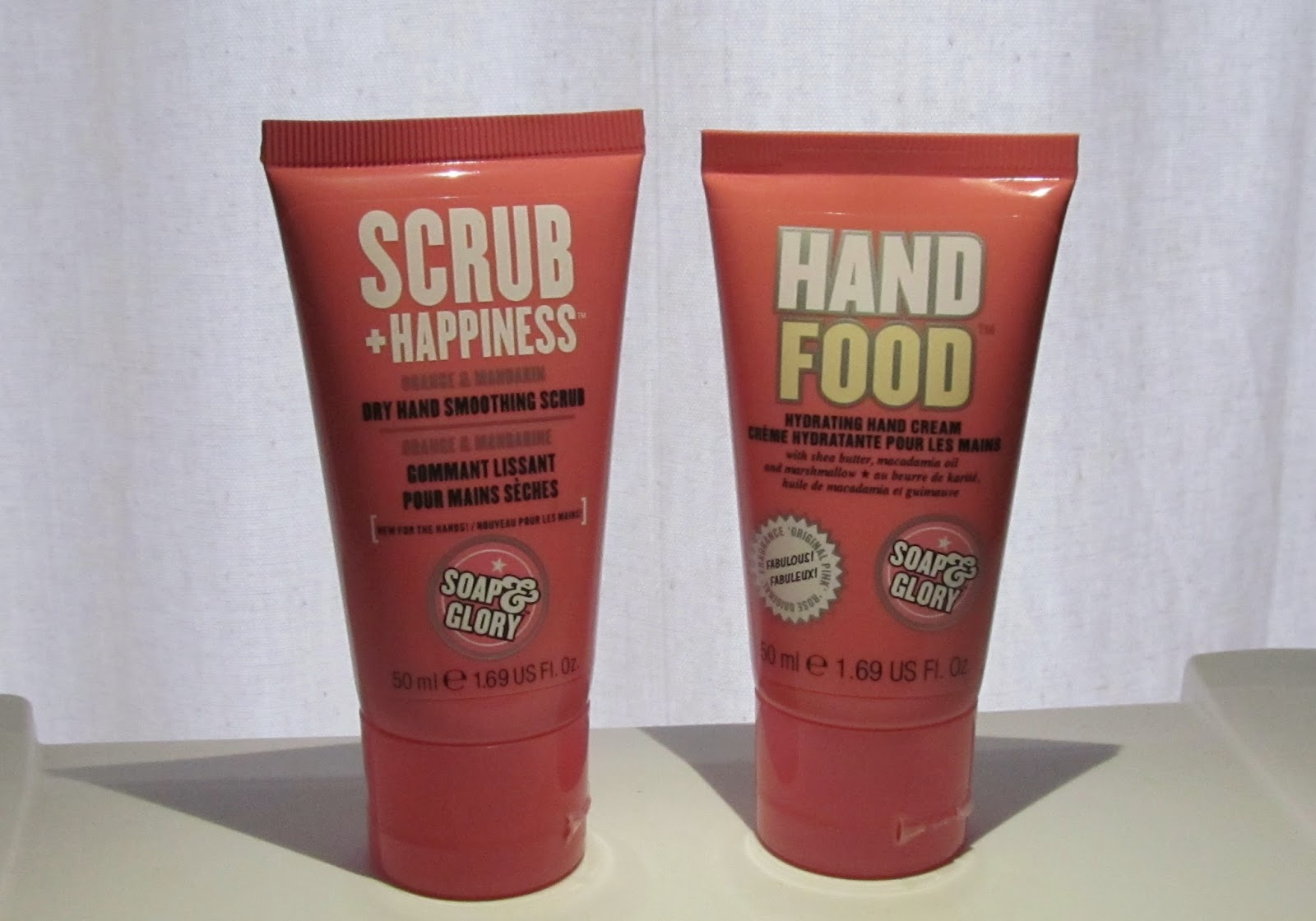 Soap and Glory hand products