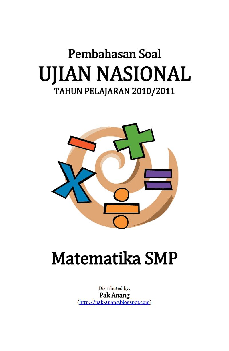 Berbagi Dan Belajar Pembahasan Soal Un Matematika Smp 2011