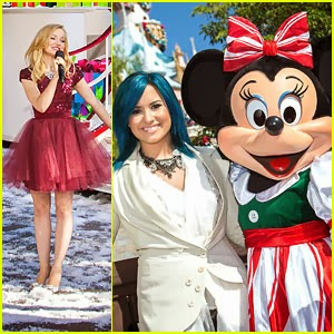 Lovato & Dove Cameron: Disney Parks Christmas Day Parade 2013 Taping