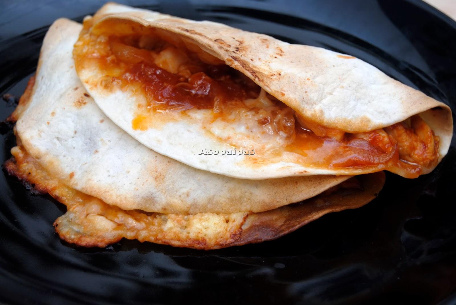 Quesadillas de pollo de texas texas chicken quesadillas for Recetas cocina casera