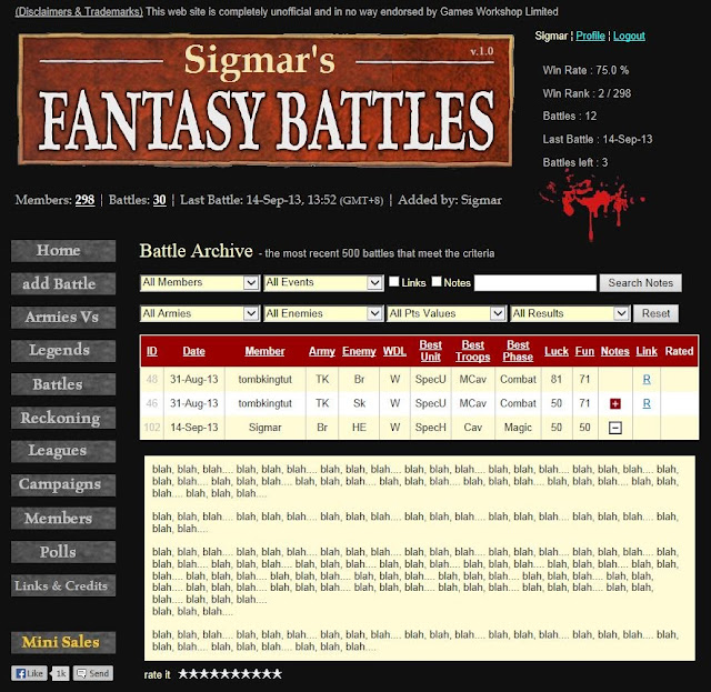 Best Rated Warhammer Fantasy Battle Reports