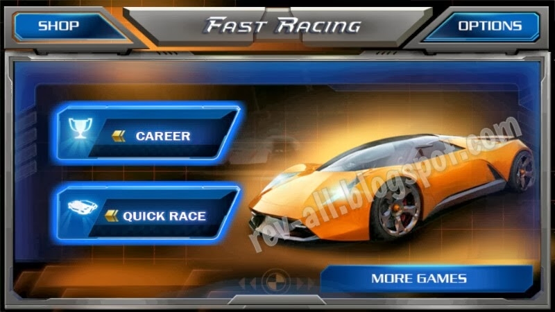 Menu Utama Fast Racing 3D (rev-all.blogspot.com)
