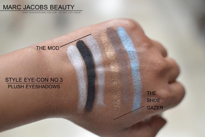Marc Jacobs Beauty Style Eyecon No 3 Plush Eyeshadows Palettes Mod 112 Glam 108 Shoe Gazer 110 Ingenue 102 Punk 104 Rebel 106 Indian Darker Skin Makeup Blog Photos Swatches