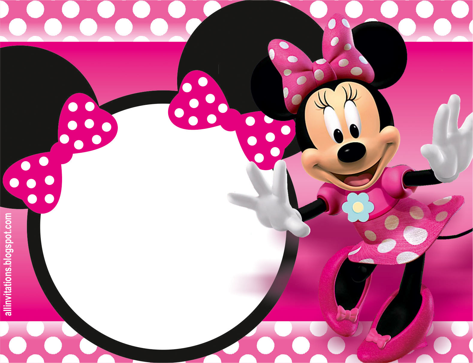 Minnie Mouse Invitations Ideas with adorable invitation example
