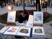 Mercatino dei pittori...Piazza della repubblica, Misano Adriatico Tutti i martedì d'estate...2011