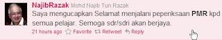Datuk Seri Najib Razak twitter,PMR