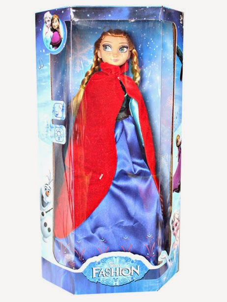 Kado ulang tahun berupa boneka cantik Anna doll.