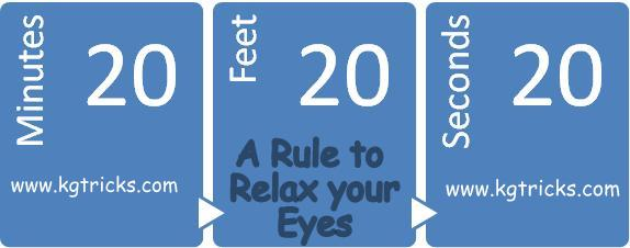 Relax your eyes using the 20-20-20 rule