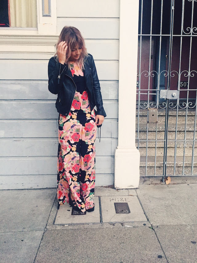 Reformation Backless Jumpsuit 70's style fall fashion trends on Stone Fox Style a San Francisco Fashion Blog