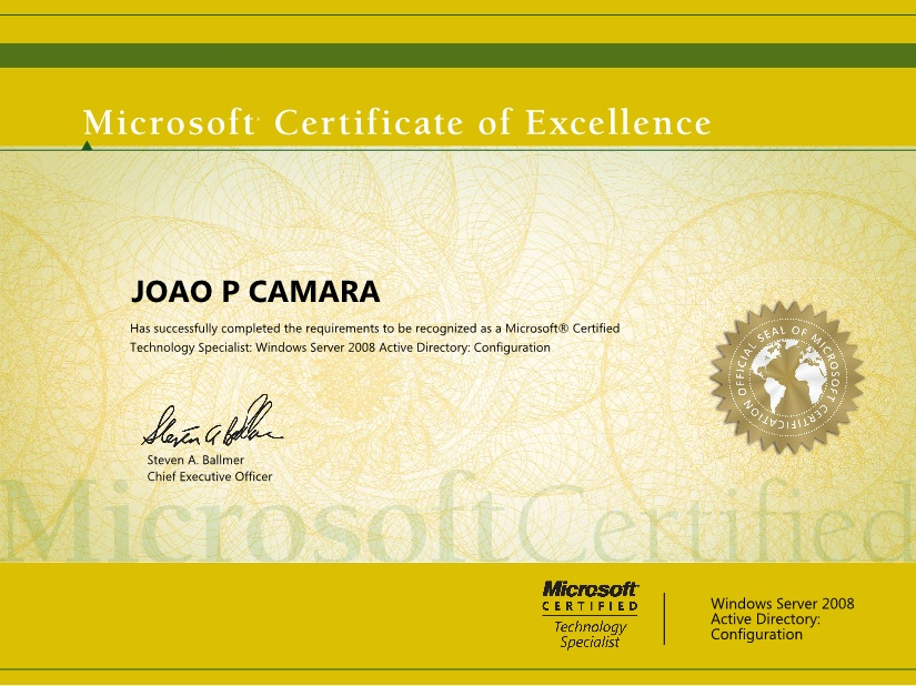 microsoft certified technology specialist mcts philiphungcao