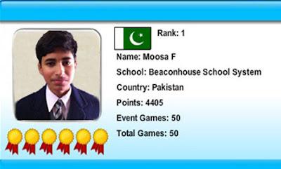 Moosa Fairoz Wins World Math Competition 2012