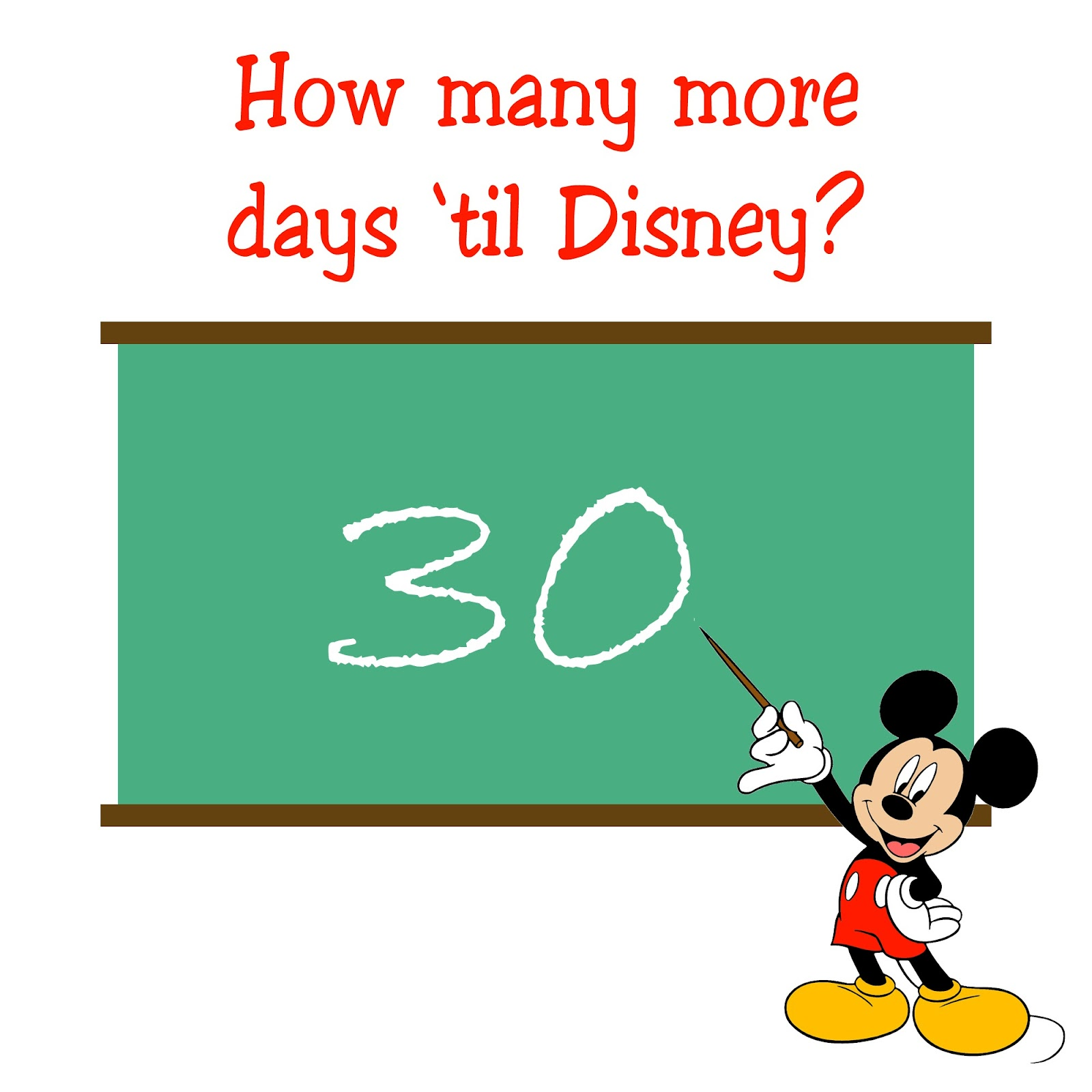 The Fancy Shack: 30 Days Until Disney Countdown Party!