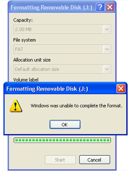 पेन ड्राइव से Windows Was Unable To Complete The Format के