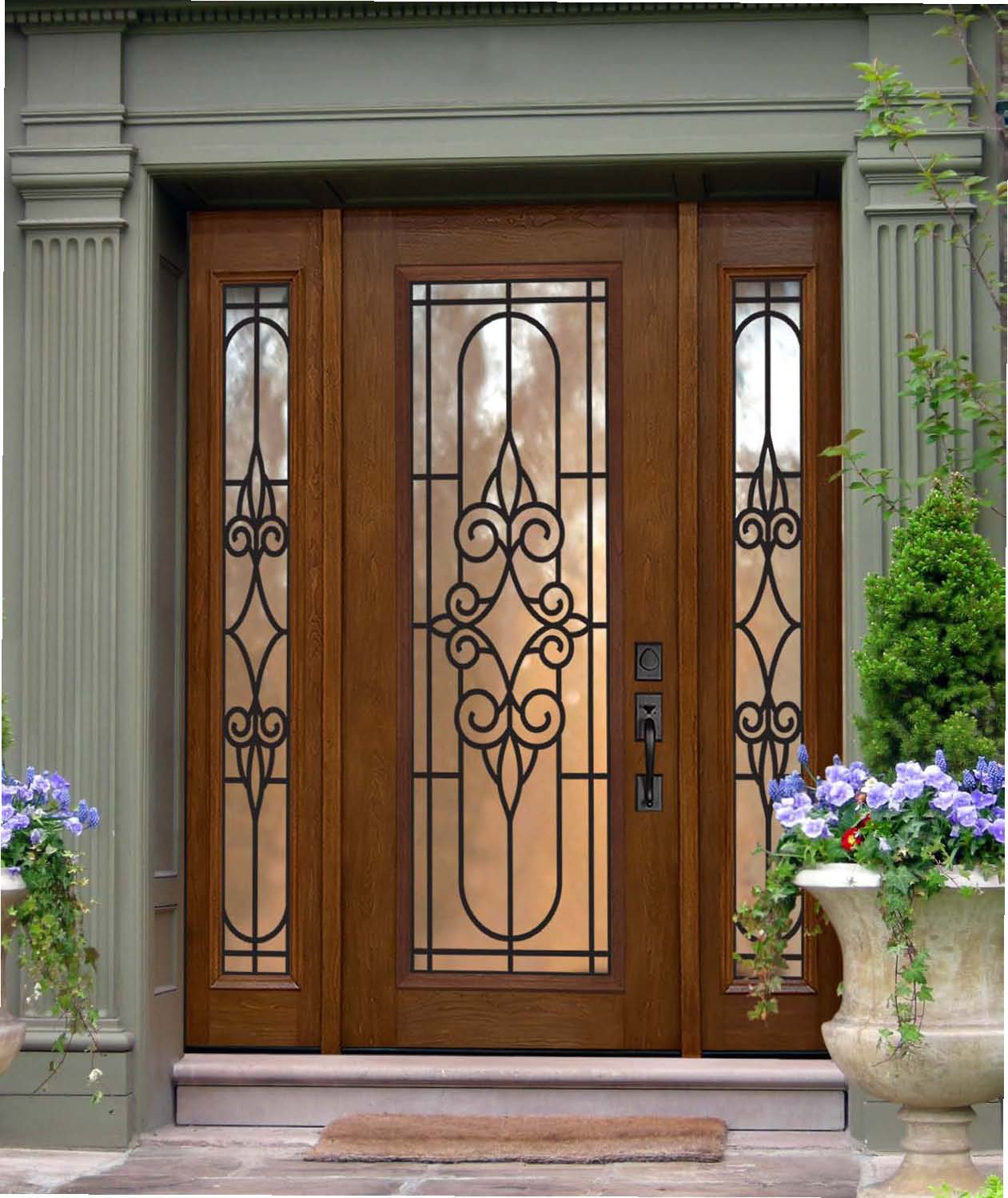 1499 #613B1E US Door And More Inc.: Make Your Entry Door Trendy With Sidelights picture/photo Fibreglass Exterior Doors 41191261