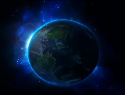 Terra com aura azul indigo