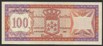 Netherlands Antillean 100 guilder bill