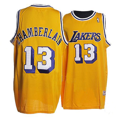 jersey los angeles lakers 13 mitchell and ness yellow nba jersey