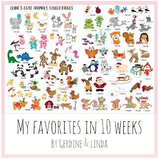 10 weken, 10 diertjes
