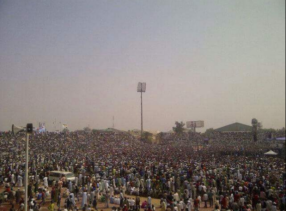 Photos Of The Crowd That Came Out For Buhari's Campaign In Kano