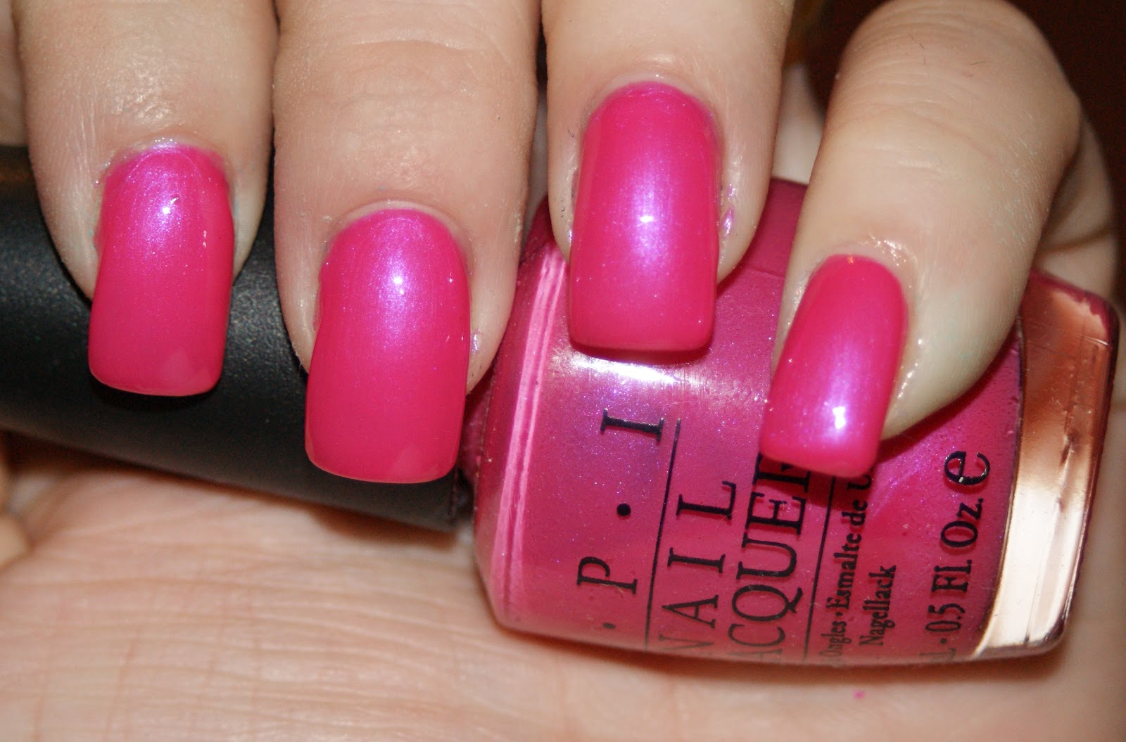 Princess Polish: Swatch and Review: OPI Strawberry Fields