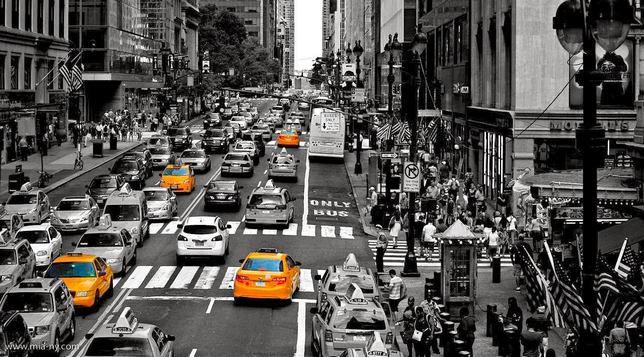 New York City Black And White Photography With Color
