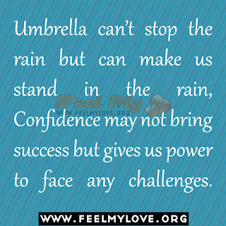 Umbrella can't stop the rain but can make us stand in the rain,