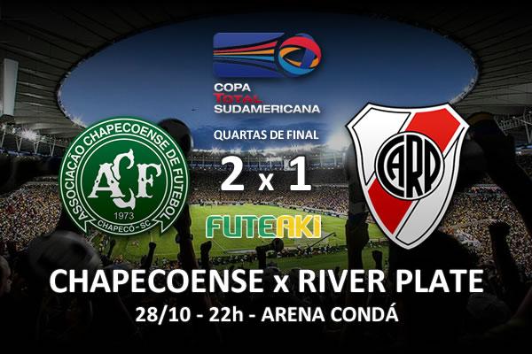 Veja o resumo da partida com os gols e os melhores momentos de Chapecoense 2x1 River Plate pelas quartas de final da Copa Sul-Americana 2015.