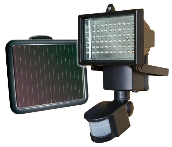 sunforce 82156 60 led solar motion light hj news. Black Bedroom Furniture Sets. Home Design Ideas