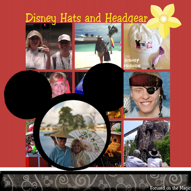 Disney Hats Layout Focused on the Magic