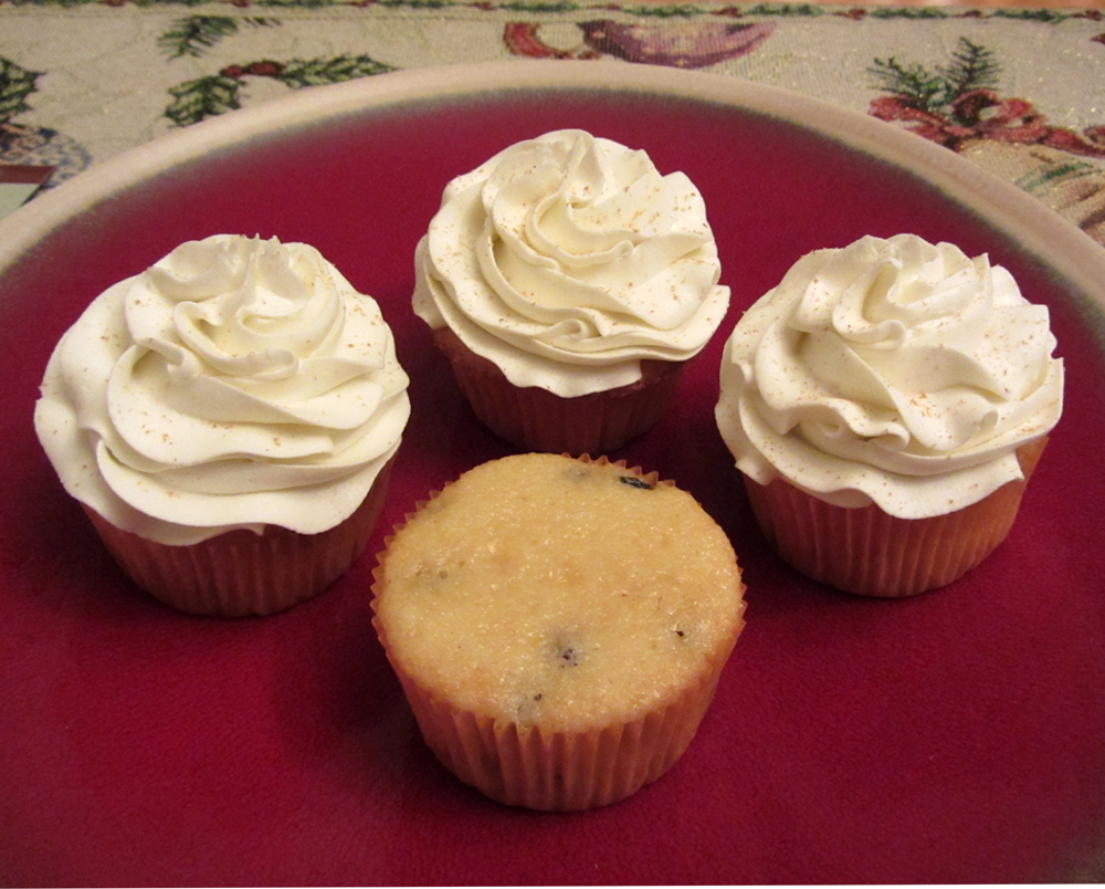Eggnog Cupcakes Recipe — Dishmaps