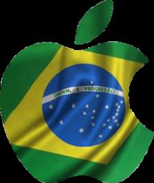 Apple, Brasil, Apple Brasil, Bandeira, Maçã, Bandeira na maçã