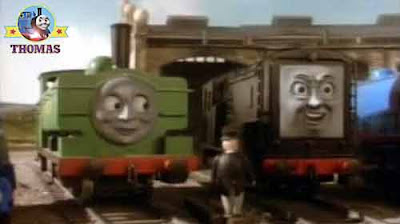 Percy Thomas the tank engine James the red engine Duck and Diesel Island of Sodor engine characters