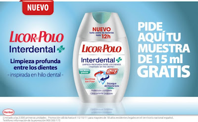 Muestras Gratis Dentífrico Interdental de Licor del Polo