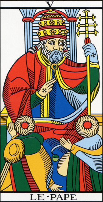Le Pape card from Marseilles Tarot
