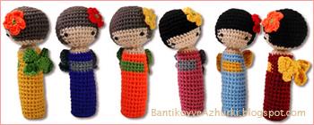 вязанные кокэси амигуруми