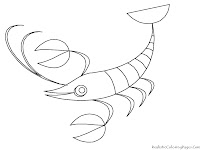 Ocean Lobster Animal Kids Coloring Pages