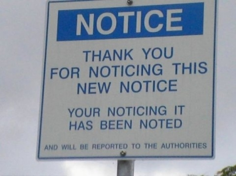 50 Completely Useless Signs