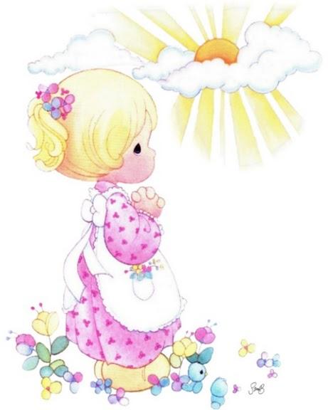 nina rezando para imprimir dibujos de ninas de preciosos momentos