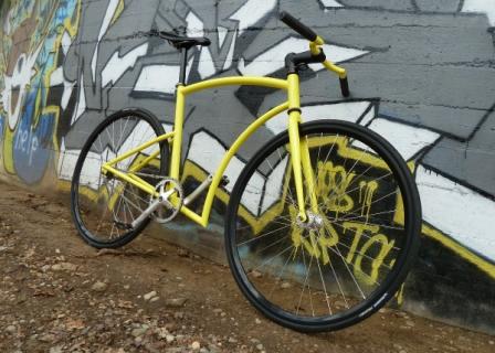 Sepeda Fixie Fiber Frame Kuning